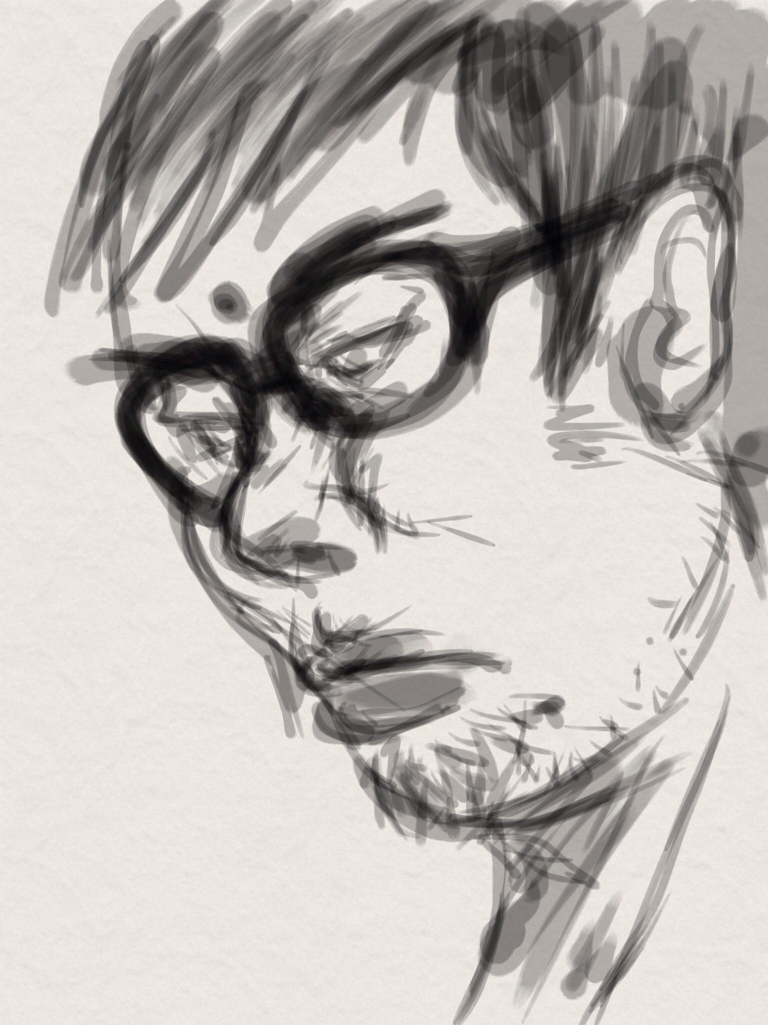 iPadアプリ『Zen Brush』にて