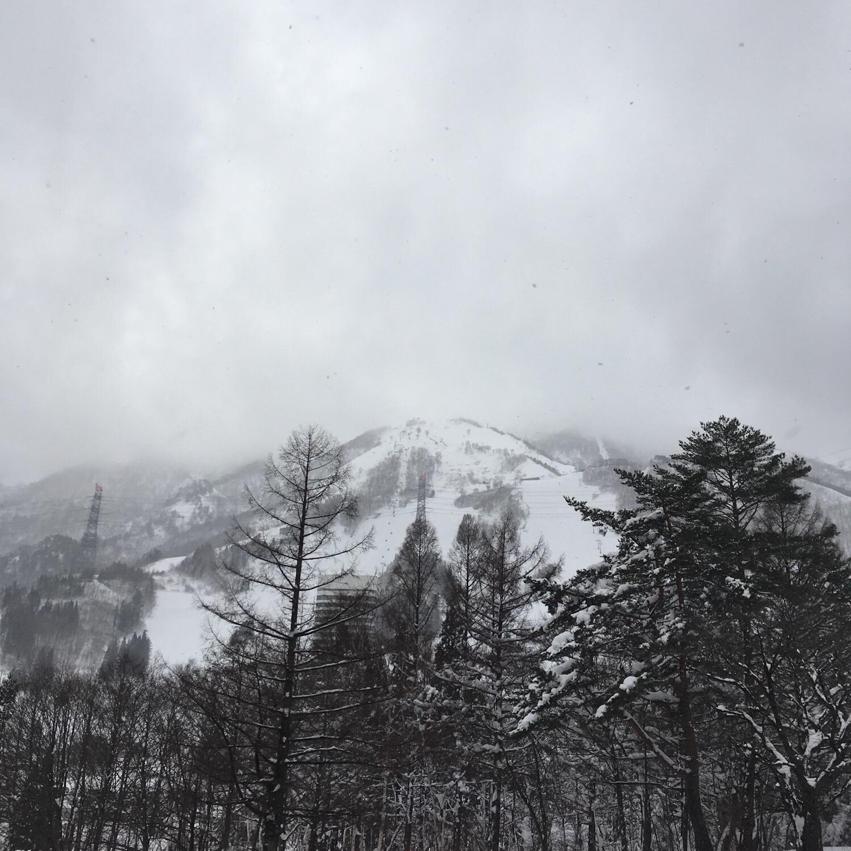 年末の苗場は雪景色