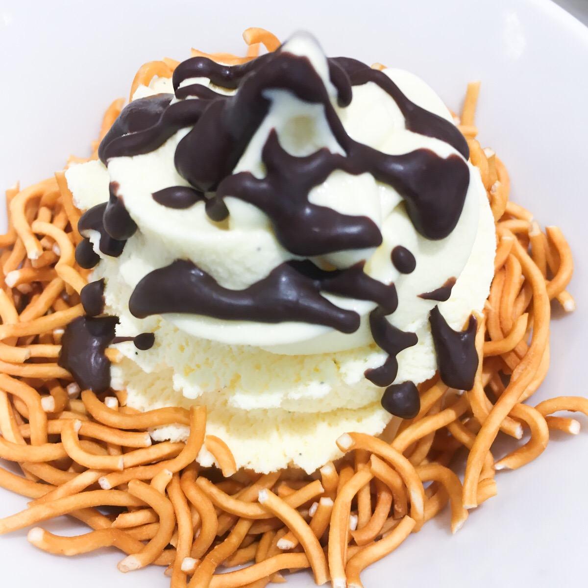 ベビースターの入ったソフトクリームが意外な美味さ!回転寿司の「魚べい」