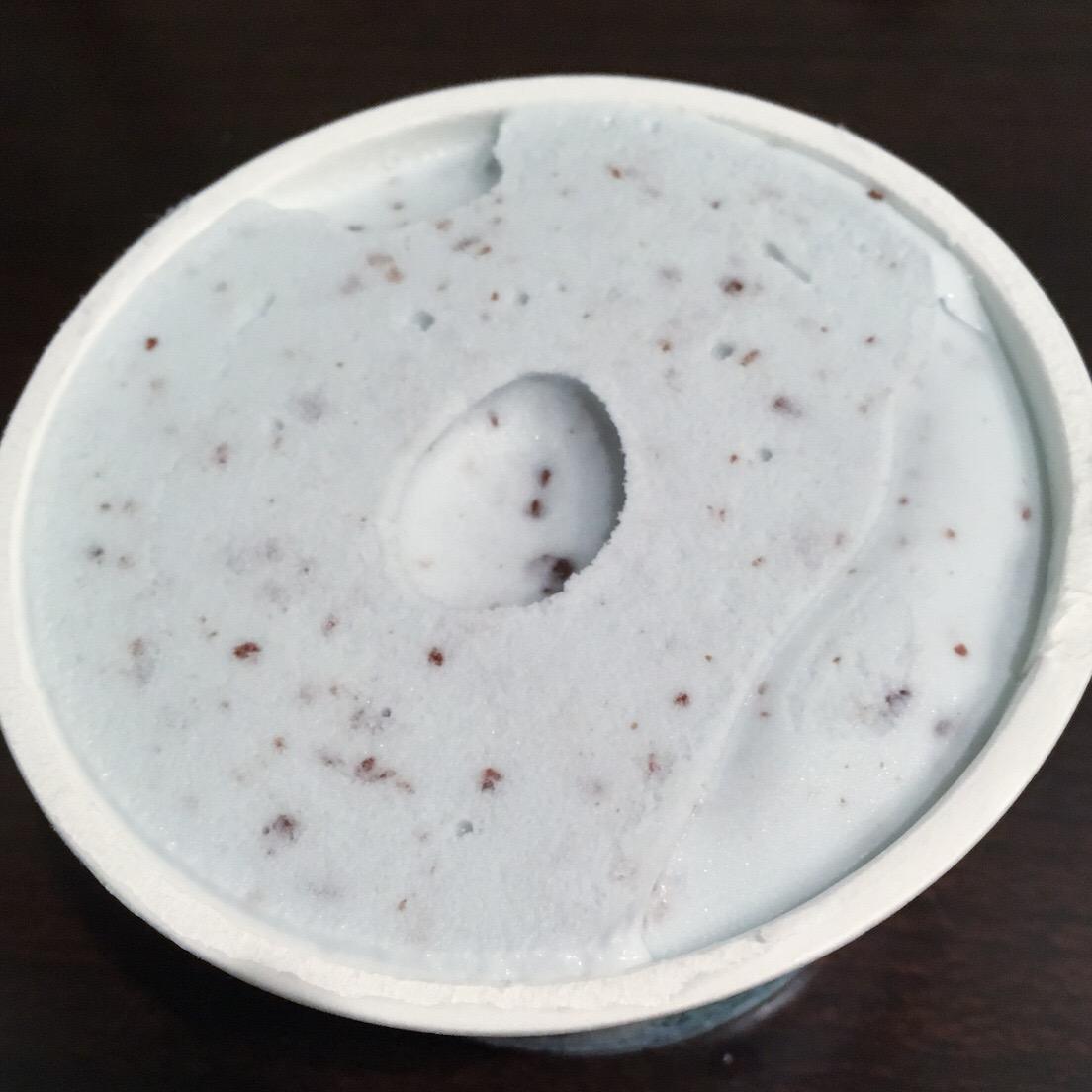 「ぎっしり満足チョコミント」たしかに半端ない量のチョコミントアイス