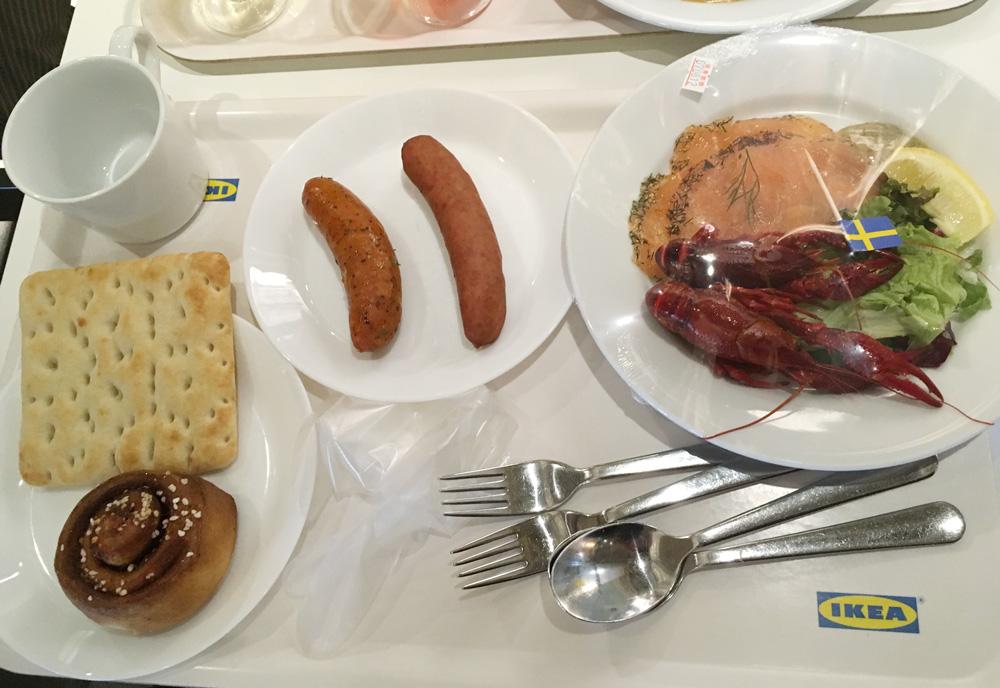 立川のIKEA(イケア)でご飯をしてきた。ザリガニとか食べたよ(笑)