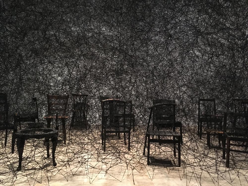 森アートミュージアムの「塩田千春展:魂がふるえる」を観てきた