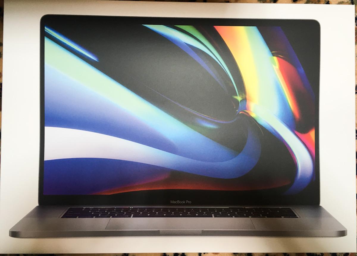 Macbook pro 16インチを買いました。その1。