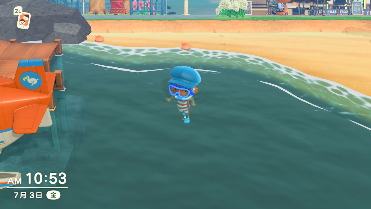 海で泳げるようになった!あつ森アップデート!